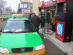 Methanol fueled taxi filling up in Shanxi